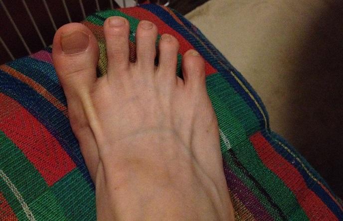 サマスティティヒで足指に意識