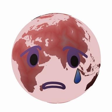 地球が泣いてる