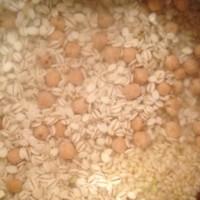 ひよこ豆も入れて玄米ごはん